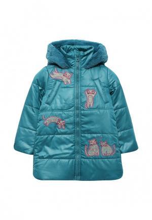 Куртка утепленная Fleur de Vie. Цвет: зеленый