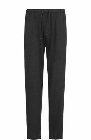 Домашние брюки из вискозы свободного кроя Derek Rose. Цвет: темно-серый