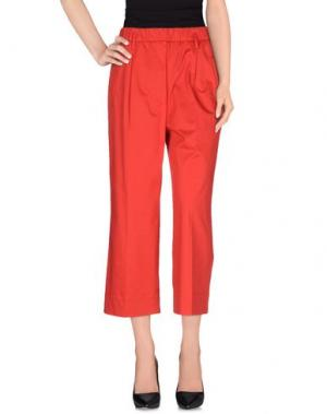 Повседневные брюки AGLINI. Цвет: красный