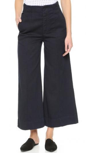 Укороченные джинсы в стиле брюк Karla GOLDSIGN. Цвет: лунный свет