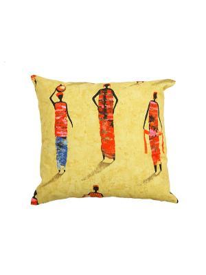 Подушка Пустыня 45х45 см T&I. Цвет: светло-желтый, желтый, красный, синий, черный