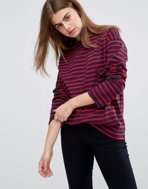 MiH Jeans Свободная футболка в полоску M.i.H. Цвет: темно-синий