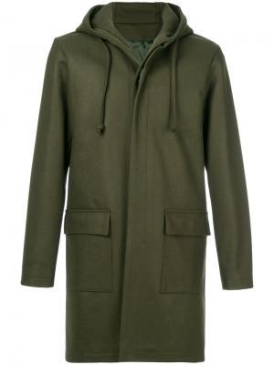 Пальто Mathieu Harmony Paris. Цвет: зелёный