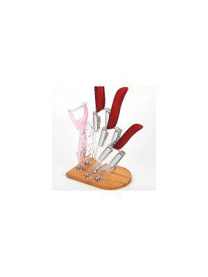 Ножи кухонные MAYER-BOCH. Цвет: красный, розовый