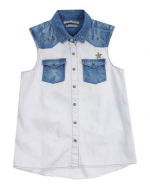 Джинсовая рубашка SCOTCH R'BELLE. Цвет: белый