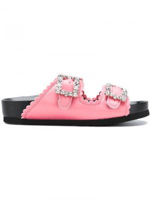 Атласные сандалии Suecomma Bonnie. Цвет: розовый и фиолетовый