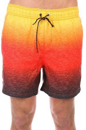 Шорты пляжные  Sergio Slub Fader 16 Sunset Billabong. Цвет: желтый,оранжевый,красный