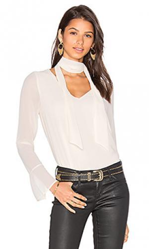 Блуза с шалевым воротником rima Line & Dot. Цвет: белый