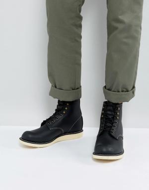 Red Wing Черные кожаные ботинки со шнуровкой. Цвет: черный