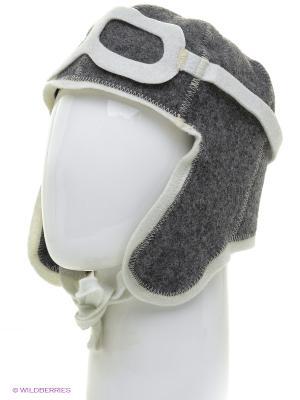 Шапка для бани шлем очки Метиз. Цвет: темно-серый, белый