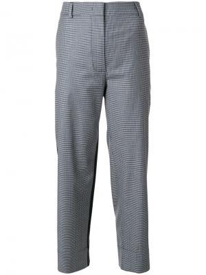 Укороченные брюки в клетку Cédric Charlier. Цвет: синий