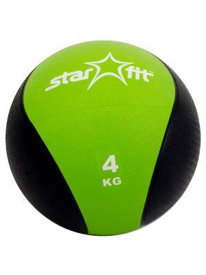 Медбол STAR FIT Pro GB-702, 4 кг, зеленый Starfit. Цвет: зеленый