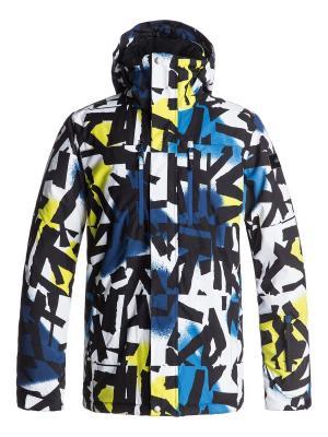 Куртка Quiksilver. Цвет: черный, желтый, лазурный
