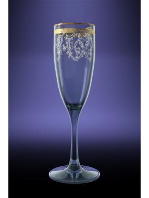 Набор 6 бокалов эдем с рисунком каскад Гусь-Хрустальный. Цвет: прозрачный