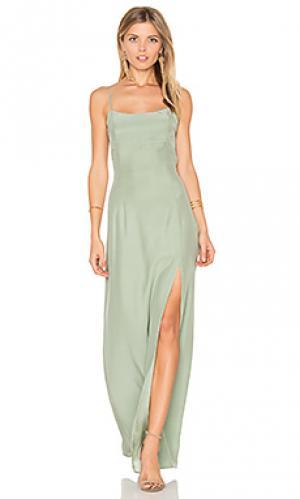 Вечернее платье christy STONE_COLD_FOX. Цвет: зеленый