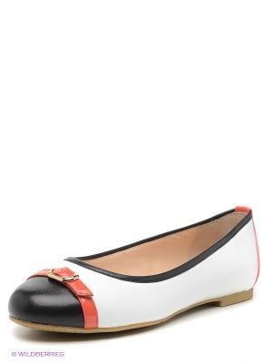 Балетки Moda Donna. Цвет: белый, коралловый, черный