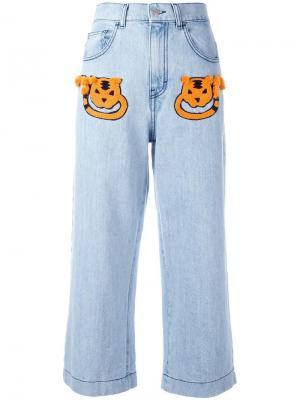 Укороченные джинсы Au Jour Le. Цвет: синий