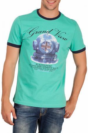 Футболка Galvanni. Цвет: green and navy