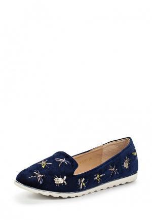 Лоферы Ideal Shoes. Цвет: синий