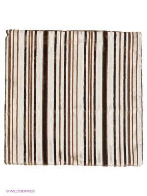 Декоративная наволочка 43х43, молния, коричнево-молочные полоски Asabella. Цвет: бежевый, коричневый