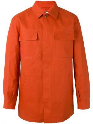 Куртка рубашечного типа с накладными карманами Mackintosh. Цвет: жёлтый и оранжевый