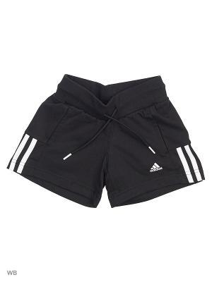 Спортивные шорты (трикотаж) дет. спорт. YG ESS M SHORT  BLACK/WHITE Adidas. Цвет: черный