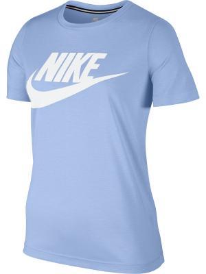 Футболка W NSW ESSNTL TEE HBR Nike. Цвет: голубой, белый