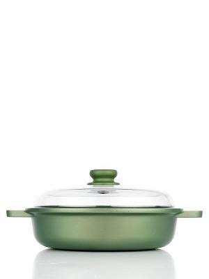 Сковорода Risoli. Цвет: зеленый