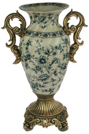 Ваза декоративная Кинжал Русские подарки. Цвет: белый, золотой, синий