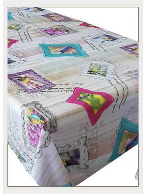Скатерть с фотопринтом Фотографии на бежевом фоне Ambesonne. Цвет: белый, бежевый, голубой, желтый, зеленый, оранжевый, розовый, серый, синий, фиолетовый