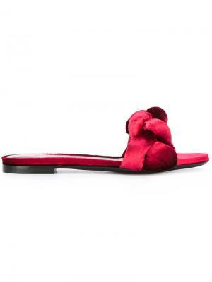 Плетеные открытые сандалии Marco De Vincenzo. Цвет: розовый и фиолетовый