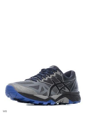 Кроссовки GEL-FujiTrabuco 6 ASICS. Цвет: серый, синий, черный