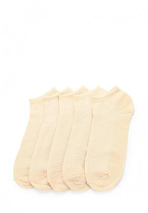 Комплект носков 5 пар Alla Buone. Цвет: бежевый