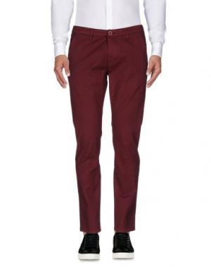 Повседневные брюки 0/ZERO CONSTRUCTION. Цвет: красно-коричневый