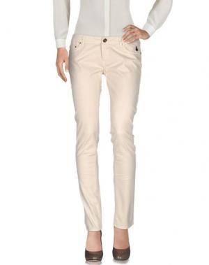 Повседневные брюки DUCK FARM. Цвет: бежевый