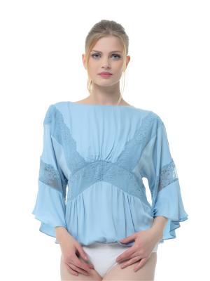 Блузка-боди Arefeva. Цвет: бирюзовый, голубой, светло-голубой