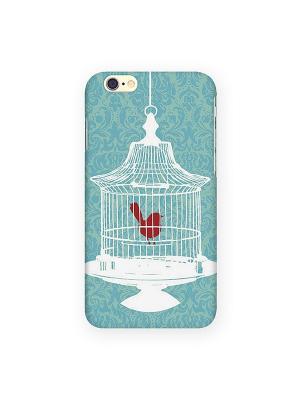 Чехол для iPhone 6 Птичка в клетке Mitya Veselkov. Цвет: зеленый, красный