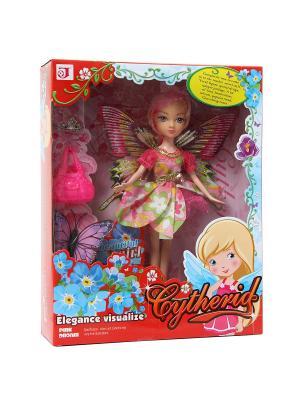 Кукла фея с аксессуарами VELD-CO. Цвет: красный