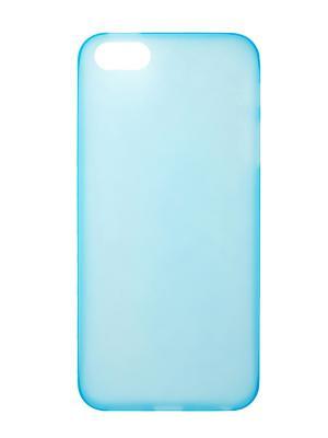 Чехол крышка задняя для iphone 5 сверхтонкая IQ Format. Цвет: голубой