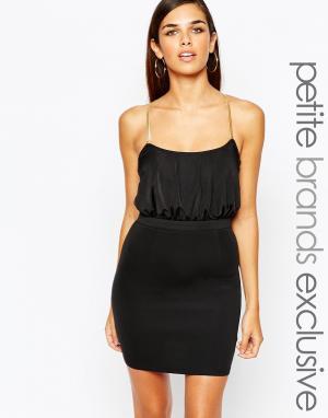 Lipstick Boutique Petite Облегающее платье с перекрестными цепочками сзади Pe. Цвет: черный