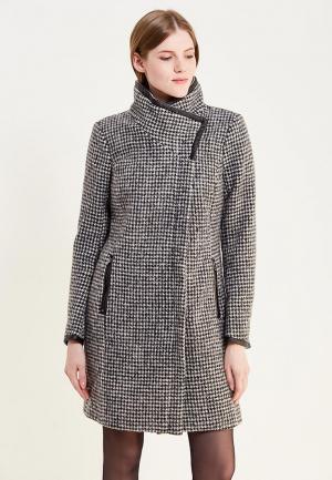 Пальто Only. Цвет: серый