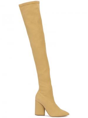 Высокие сапоги Yeezy. Цвет: коричневый