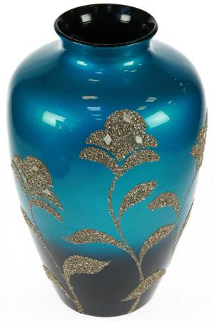 Ваза декоративная Русские подарки. Цвет: синий, золотой