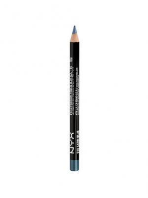 Классический карандаш для глаз. SLIM EYE PENCIL - SATIN BLUE NYX PROFESSIONAL MAKEUP. Цвет: голубой