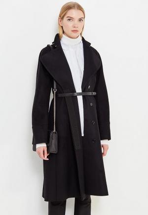 Пальто Patrizia Pepe. Цвет: черный