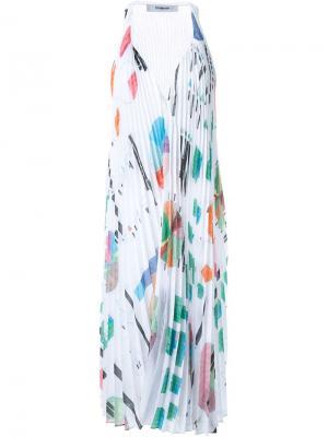 Плиссированное платье Sunray Chalayan. Цвет: белый