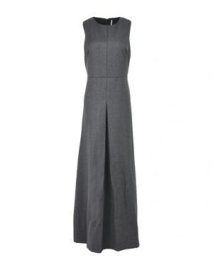 Длинное платье LAVINIATURRA. Цвет: свинцово-серый