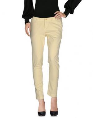 Повседневные брюки RE-HASH. Цвет: светло-желтый