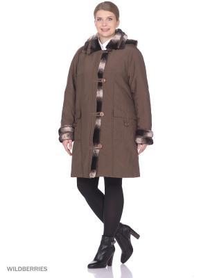 Пальто VIKO. Цвет: коричневый