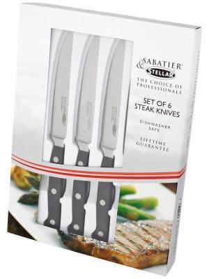 Stellar Набор из 6 ножей для стейка. Horwood. Цвет: черный, серебристый